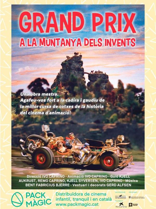 Imatge del cartell de la pel·lícula Grand Prix a la muntanya dels invents