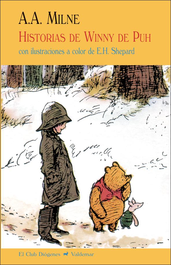 Portada del llibre infantil Historias de Winny de Puh d'A.A. Milne