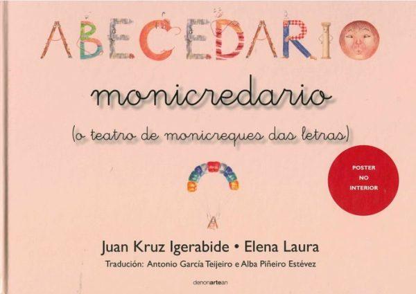 Portada del llibre infantil Abecedario monicredario (o teatro de monicreques das letras) de Juan Kruz Igerabide