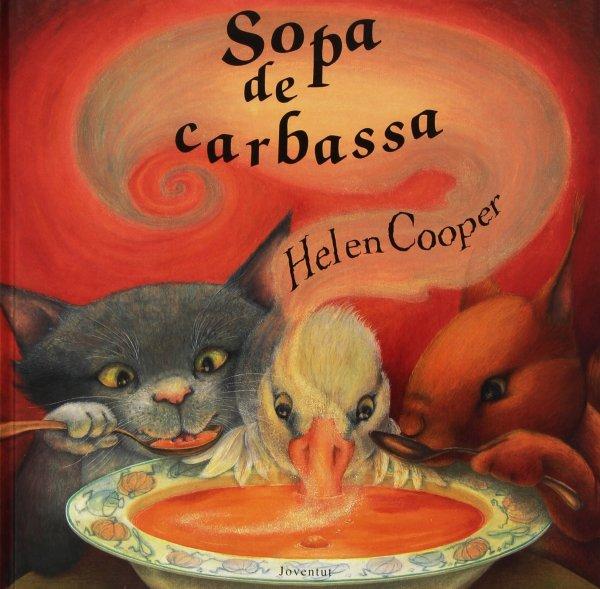 Portada del llibre infantil Sopa de carbassa de Helen Cooper