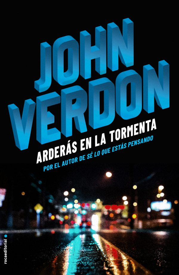 Portada de la novel·la Arderás en la tormenta de John Verdon