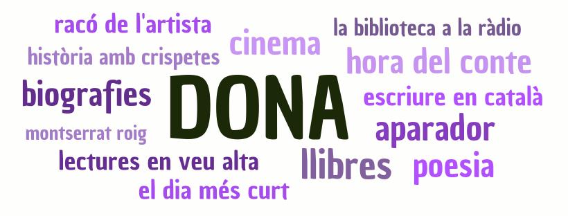 Imatge sobre les activitats que es fana a la biblioteca amb motiu del Dia de la Dona