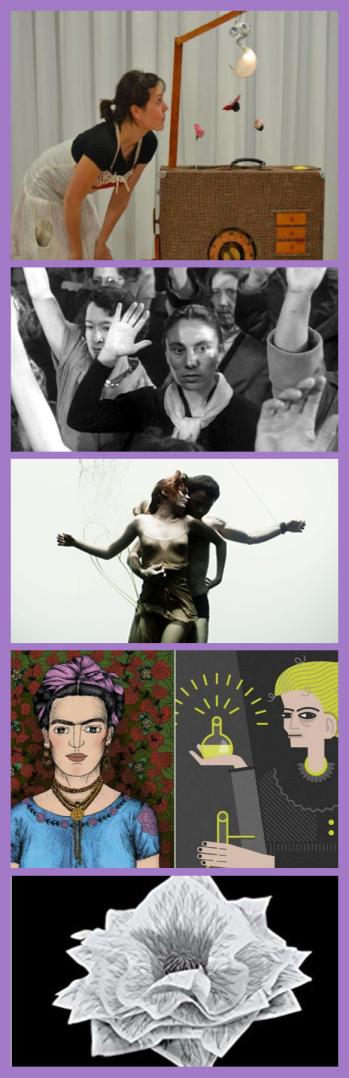 Imatges de les activitats que organitza la biblioteca amb motiu del Dia de la Dona