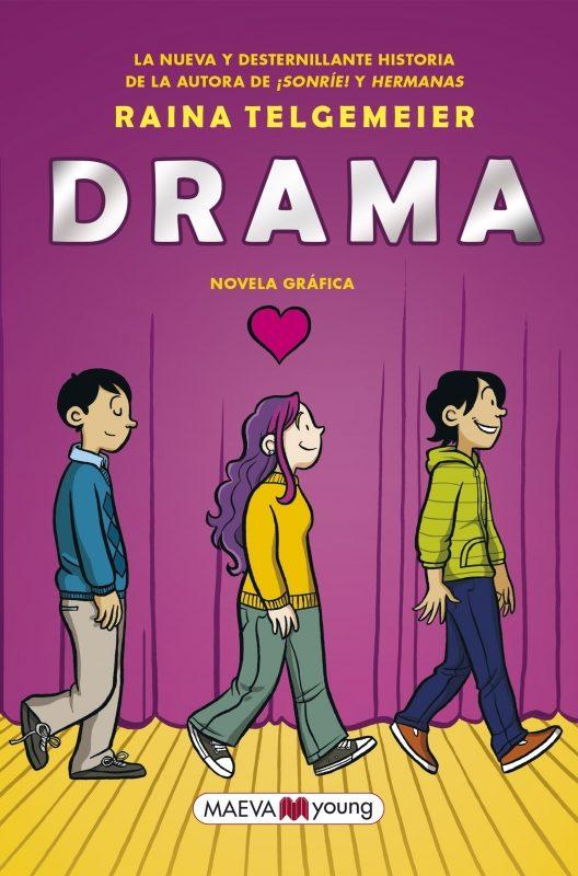 Portada de la novel·la gràfica Drama de Raina Telgemeier