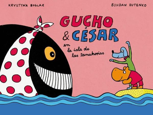Portada del llibre infantil Gucho y César en la isla zanahorias