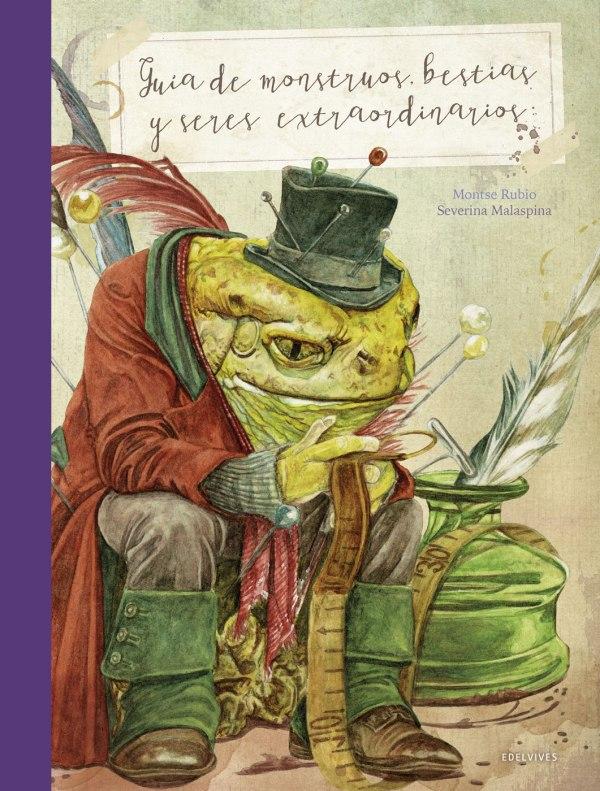 Portada del llibre infantil Guía de monstruos, bestias y seres extraordinaros