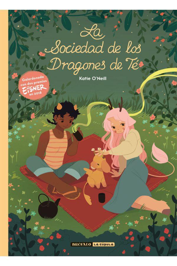 Portada del llibre infantil La sociedad de los Dragones de Té de Katie O'Neill
