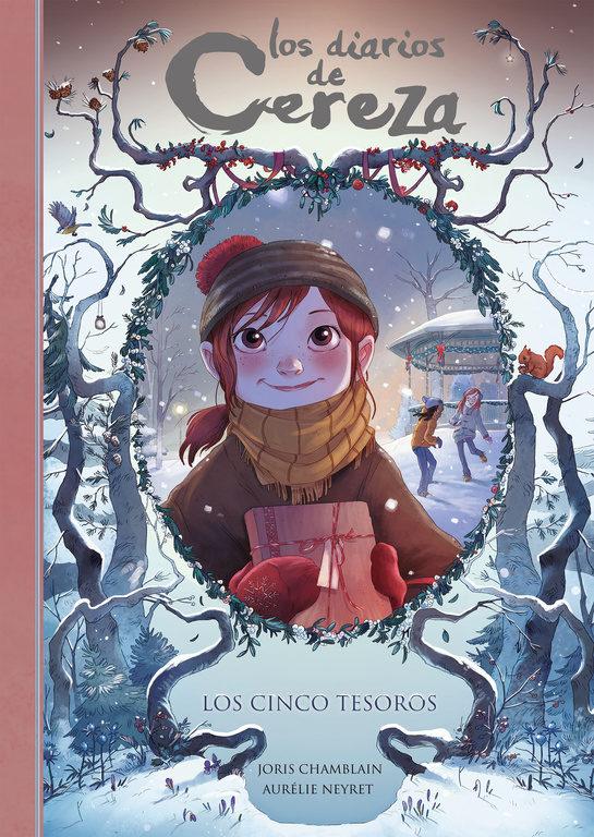 Portada del còmic infantil Los diarios de Cereza. Los cinco tesoros de Joris Chamblain i Auréle Neyret