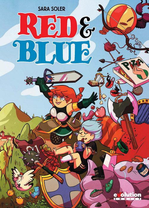 Portada del còmic infantil Red and Blue de Sara Soler