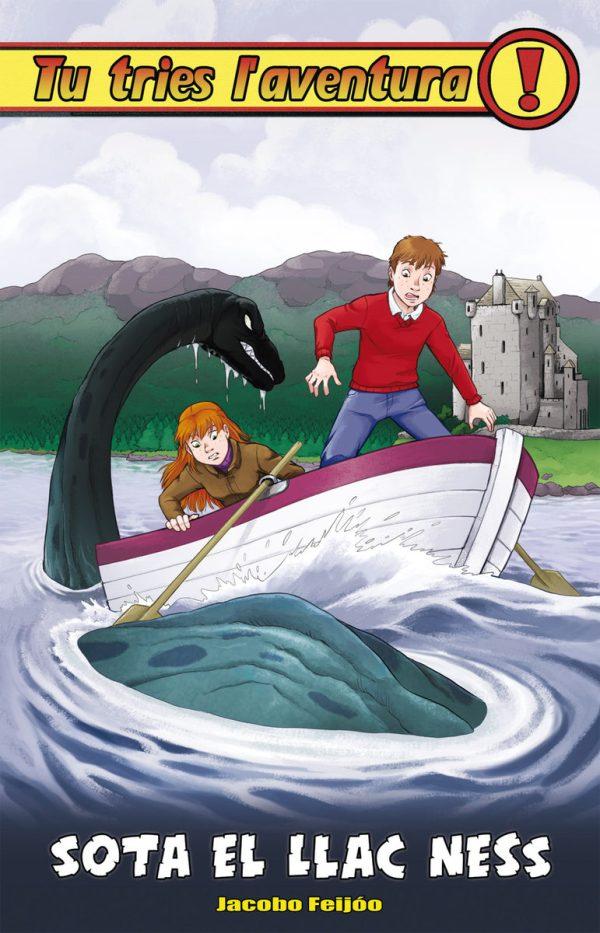 Portada del llibre infantil Sota el llac Ness de Jacobo Feijóo (Col·lecció Tú tries l'aventura)
