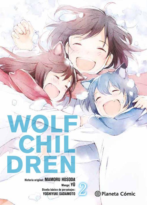 Portada del còmic manga WOLF CHILDREN 2