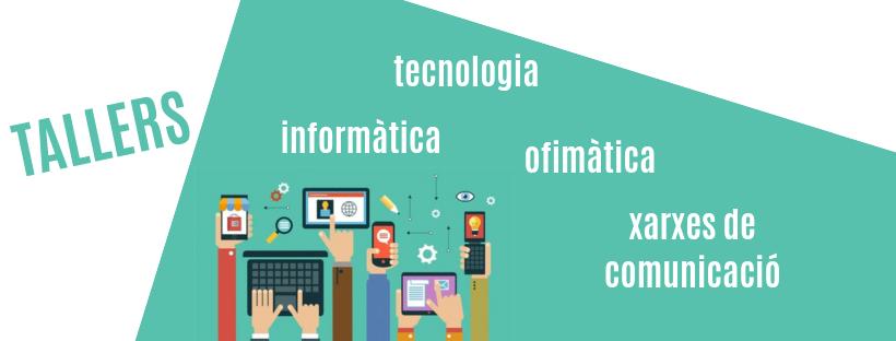 Imatge amb el text tallers informàtica