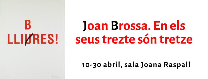 Imatge de l'exposició de Joan Brossa