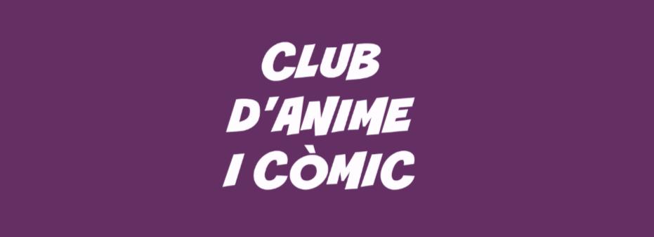 Imatge amb el text Club d'anime i còmic