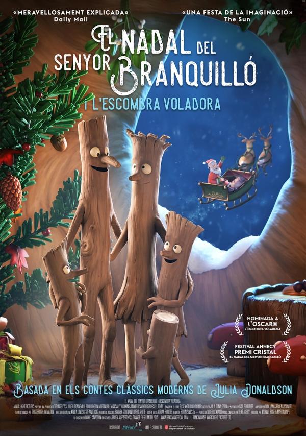 Cartell de la pel·lícula infantil El Nadal del senyor Branquilló