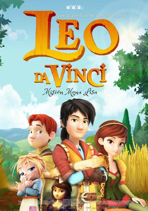 Cartell de la pel·lícula infantil Leo da Vinci misión Mona Lisa