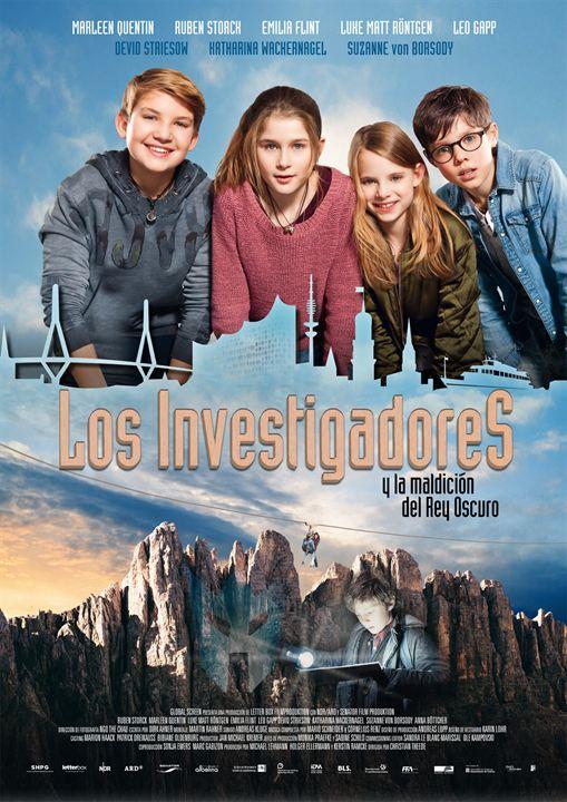 Cartell de la pel·lícula infantil Los investigadores y la maldición del Rey Oscuro