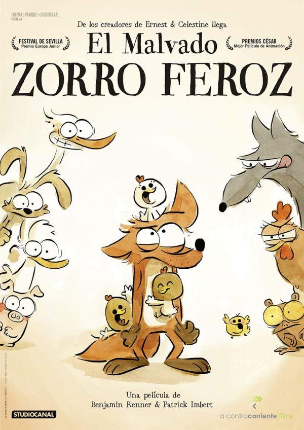 Cartell de la pel·lícula infantil El malvado zorro feroz