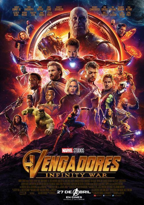 Cartell de la pel·lícula Los Vengadores infitinity war
