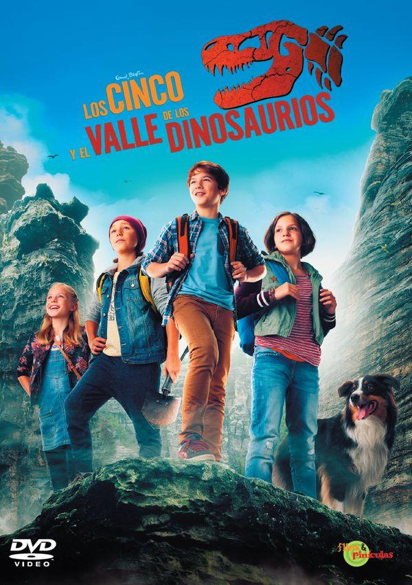Imatge del cartell de la pel·lícula Los cinco en el Valle de los Dinosaurios