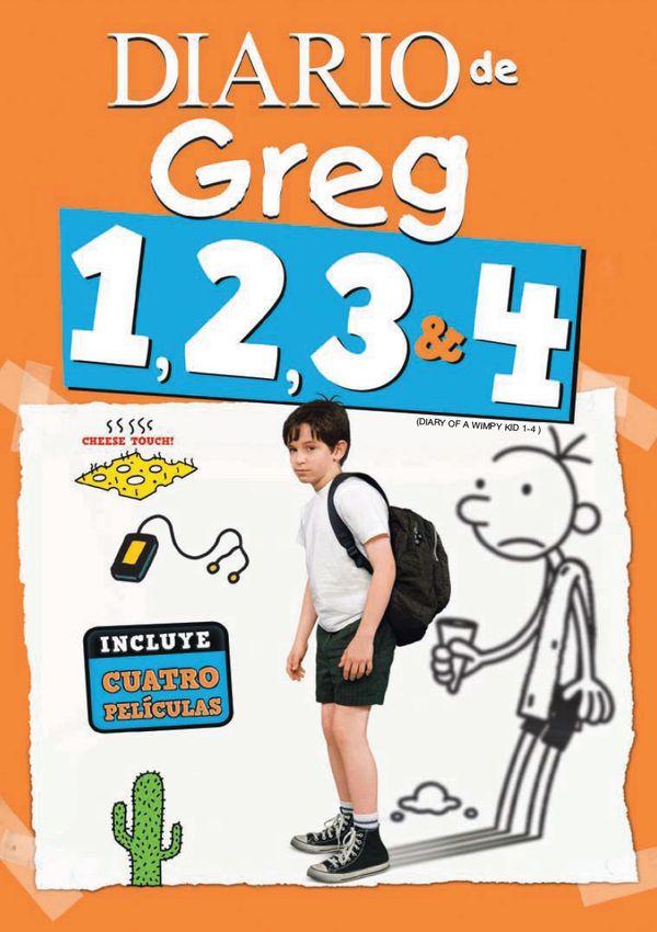 Imatge del cartell de les pel·lícules Diario de Greg 1, 2, 3 i 4