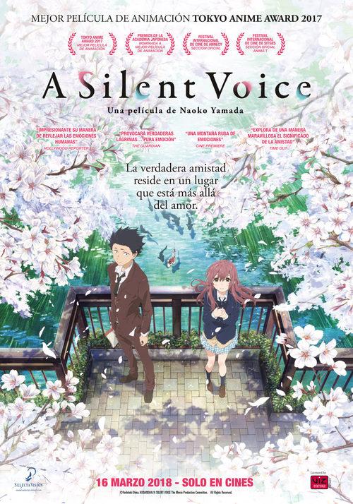 Imatge del cartell de la pel·lícula A silent voice