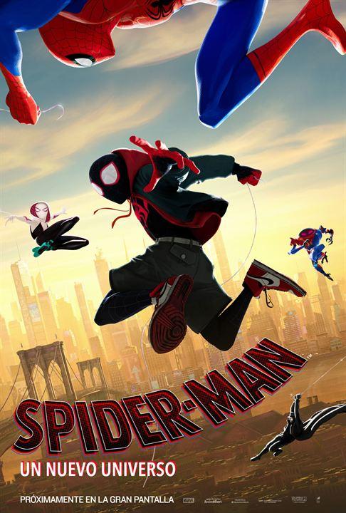 Imatge del cartell de la pel·lícula Spider-man un nuevo universo