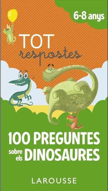 Portada del llibre infantil 100 preguntes sobre els dinosaures