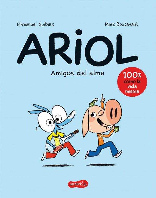 Portada del llibre infantil Ariol. Amigos del alma