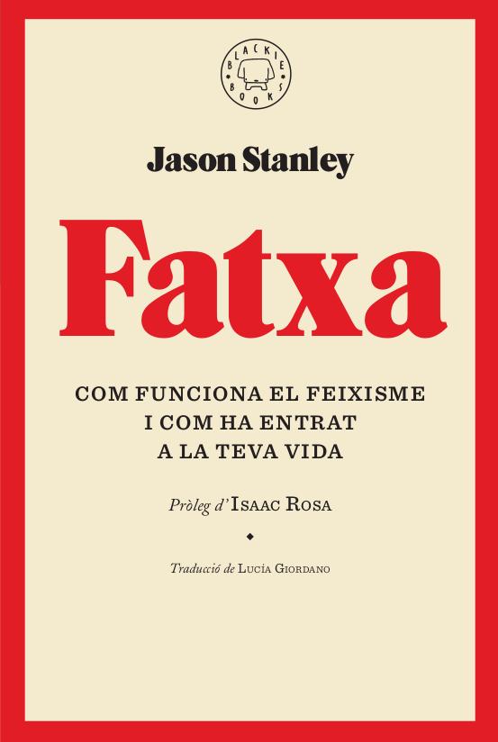 Portada del llibre Fatxa de Jason Stanley