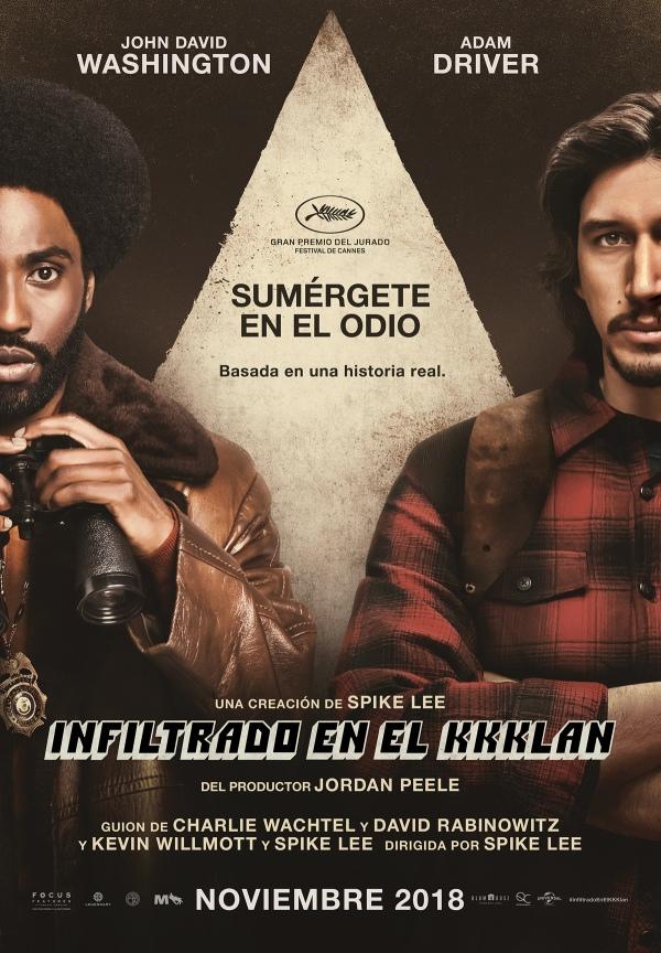 Imatge del cartell de la pel·lícula Infiltrado en el Kkklan