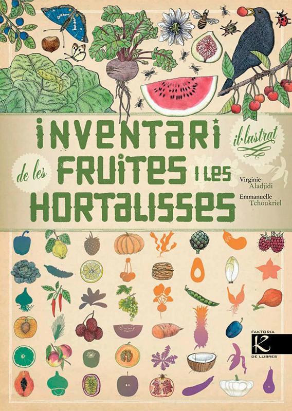 Portada del llibre infantil Inventari il·lustrat de les fruites i les hortalisses