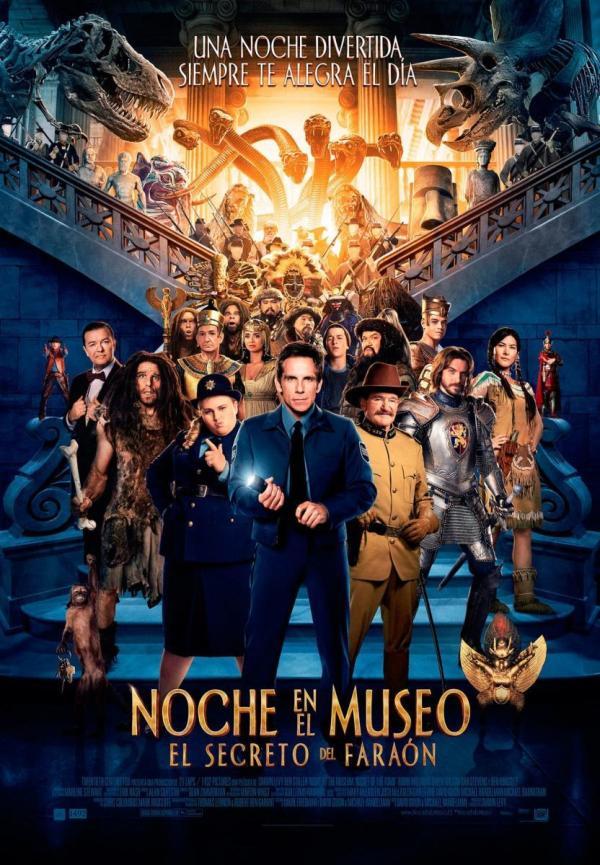Imatge del cartell de la pel·lícula Noche en el museo. El secreto dle Faraón