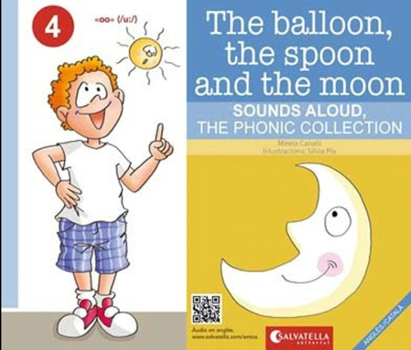 Portada del llibre infantil The balloon, the spoon and the moon