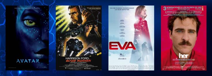 Imatge amb cartells de pel·lícules sobre ciència