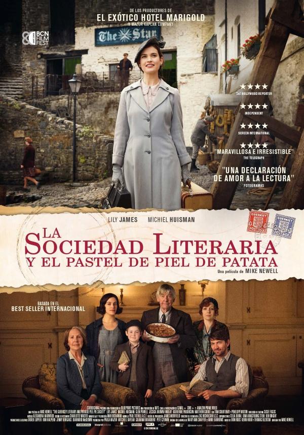 Imatge del cartell de la pel·lícula La sociedad literaria y el pastel de piel de patata