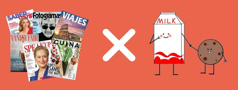 Imatge de la campanya solidària de revistes