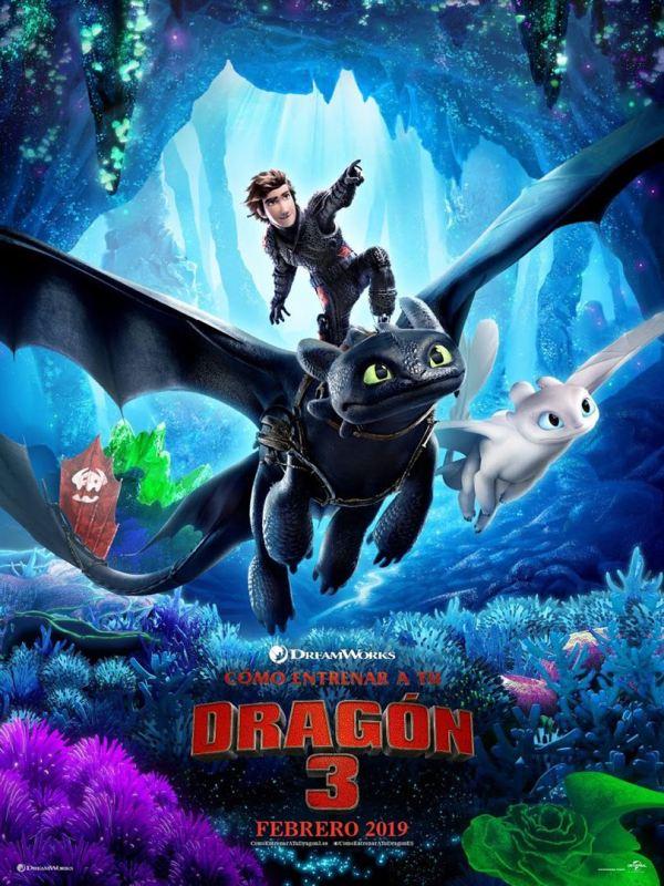 Imatge del cartell de la pel·lícula infantil Cómo entrenar a tu dragón 3