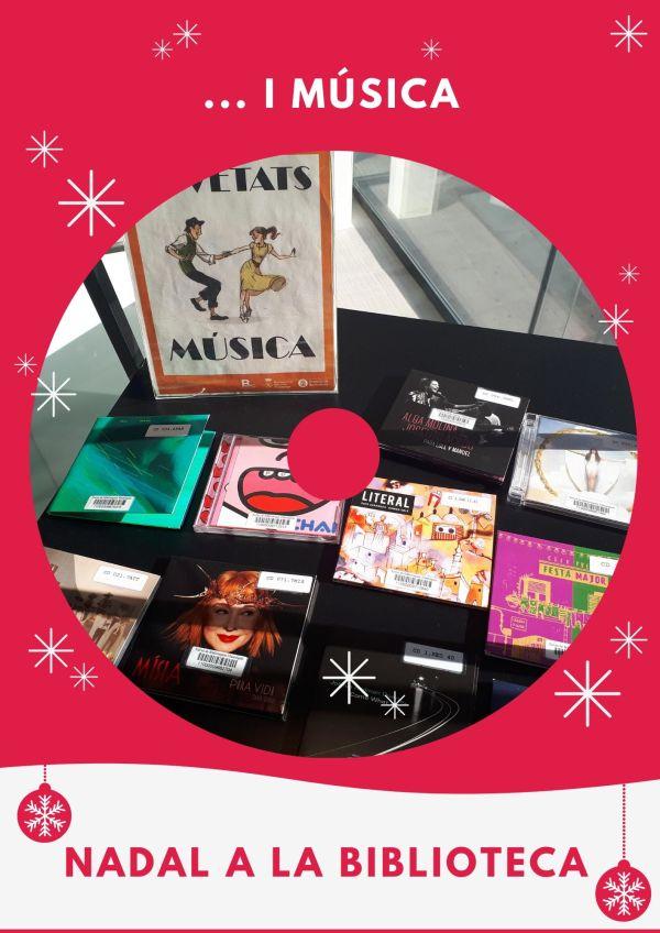 Imatge de Nadal a la biblioteca