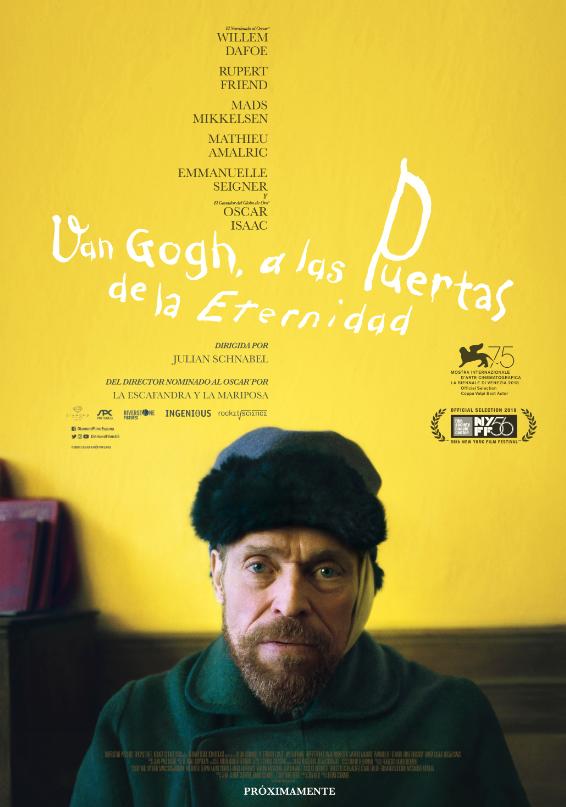 Imatge del cartell de la pel·lícula Van gogh a las puertas de la eternidad