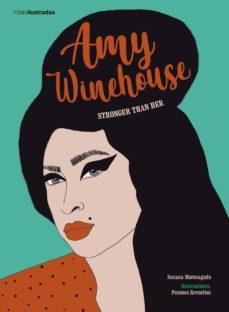 """Portada del llibre """"Amy Winehouse. Stronger than her"""" de Susana Monteagudo"""