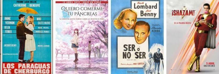 Imatge dels cartells de les pel·lícules ressenyades