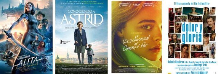 Imatge amb els cartells de les pel·lícules ressenyades