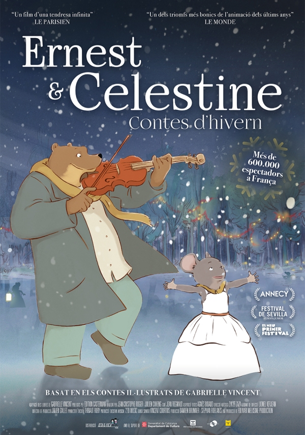 Imatge del cartell de la pel·lícula Ernest i Celestine Contes d'hivern