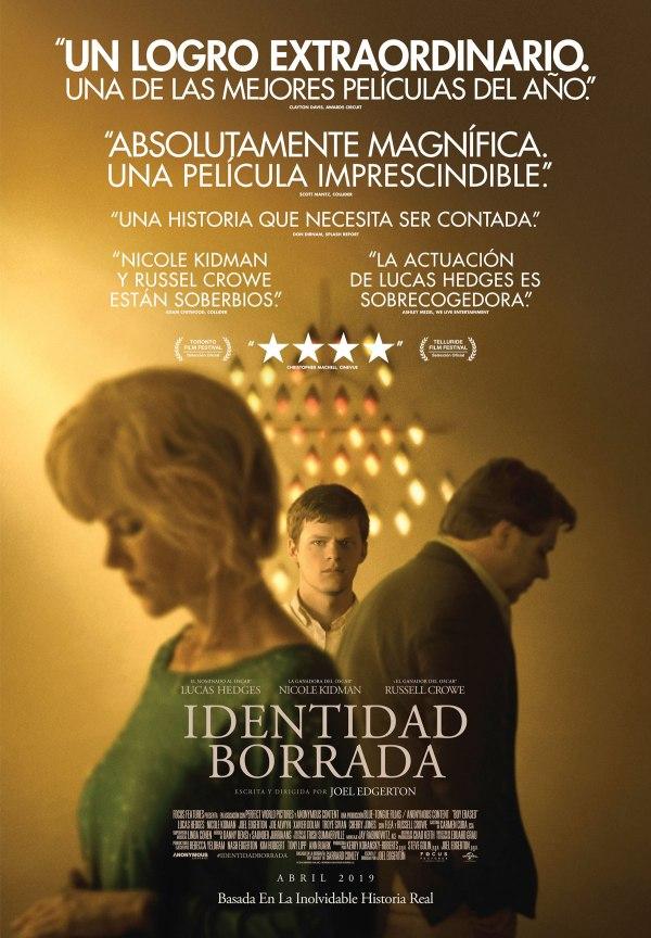 Imatge del cartell de la pel·lícula Identidad borrada