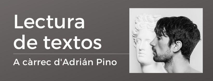 Imatge de l'activitat Lectura de textos amb Adrián Pino