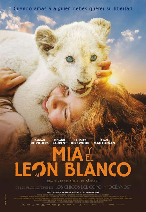 Imatge del cartell de la pel·lícula Mia i el león blanco
