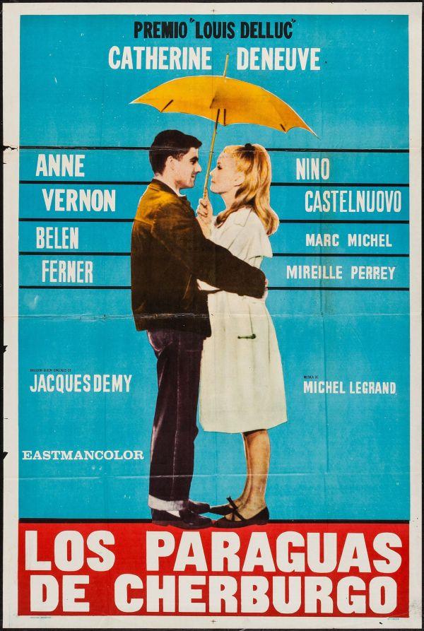 Imatge del cartell de la pel·lícula Los paraguas de Cherburgo