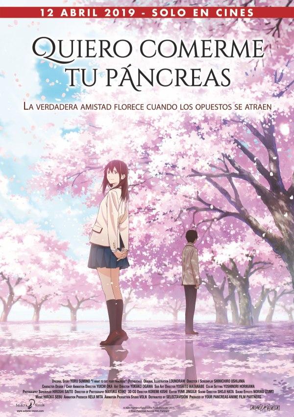 Imatge del cartell de la pel·lícula Quiero comerme tu pancreas