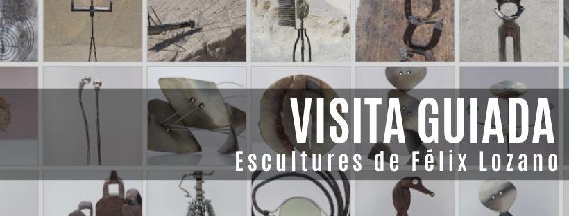 Imatge de la visita guiada a l'exposició d'escultures de Félix Lozano